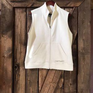 Women's, CARHARTT fleece vest, crisp and clean